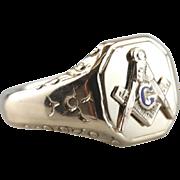 Posies and Urns: Classic Men's Masonic Ring