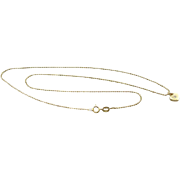 Simply Sweet: Tiny Heart and Diamond Pendant on 14K Gold Chain