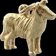 Lassie Come Home, Collie Dog Charm or Pendant, Vintage