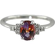 Rare Padparadscha Sapphire Engagement Ring, The Virgina Ring from the Elizabeth Henry ...