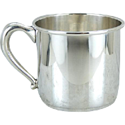 Preisner Sterling Silver Baby Cup, Baby Shower Keepsake