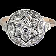Snowflake Diamond Cocktail or Anniversary Ring
