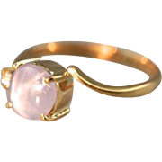 Pink Star & Satellite: Pinky Lilac Star Sapphire Cocktail Ring