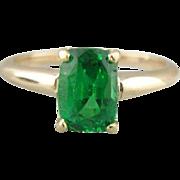 Gleaming 18K/14K Gold Tsavorite Garnet Ladies Ring
