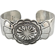 Upcycled Native American and Kirk and Son Sterling Silver Cuff Bracelet