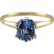 Periwinkle Blue Stone, Sapphire Solitaire