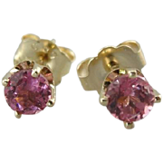 Perfectly Pink Tourmaline Stud Earrings