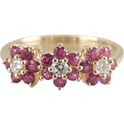 July Posies: Ruby and Diamond Flower Band