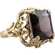 Exceptionally Fine, Red Spinel and Bold Filigree Cocktail Ring