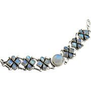 SOLD Etherial Sterling Silver Moonstone Bracelet