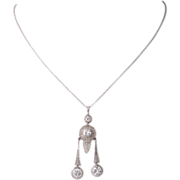 Art Deco Platinum 900/1000 Diamond Necklace