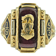 SALE Vintage 10 k yellow gold class ring class of 1953.