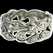 Vintage platinum diamond eternity ring