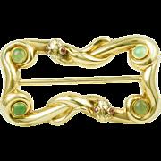 SALE Antique 14k yellow gold snake buckle Circa:1890/1900