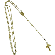 Vintage 14K yellow gold Rosary beads