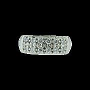 Vintage 14k white gold diamond band