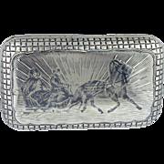 Rare Antique 19th century Imperial Russian Silver snuff box.