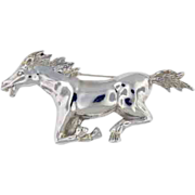Sterling silver large  horse pin,  Vintage