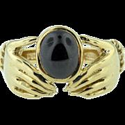 9k Yellow Gold Vintage Irish Claddah Ring