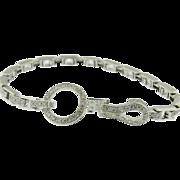 18K White Gold Diamond Tennis Bracelet,   Cartier Style  1950's