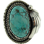 Sterling Silver Navajo Turquoise  Ring