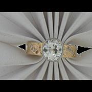 14 K Yellow Gold Vintage Euro  Diamond Ring  1.75cttw. VS/H