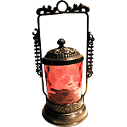 This is a EG Webster Bothers silver plated VICTORIAN ANTIQUE PICKLE CASTOR. It stands about ..