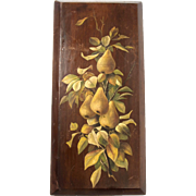 SOLD Pears Painting on Wood
