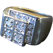 1960s or 1970s Multi Solitaire Diamond Ring