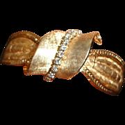 14 Kt Gold Diamond Flip Top Ladies Bracelet Wristwatch