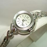 1965 Automatic Ladies 14 Kt White Gold Wristwatch