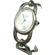 800 Silver Vintage Gurami Ladies Wristwatch 17 Jewel Mechanical