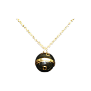 Ernest Borel Enamel Vintage Flip Top Acorn Ball Pendant Watch