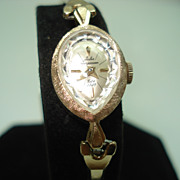 Jules Jurgensen 14Kt  Yellow Gold Vintage Teardrop Ladies Wristwatch