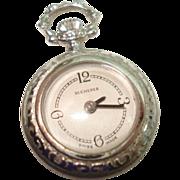 SALE Vintage Ladies Pendant Pocket Watch by Bucherer