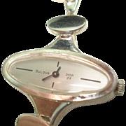 Christian Dior 23 Jewel Sterling Silver Bulova Ladies Watch