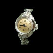 14KT White Gold Diamond Lyceum Ladies Vintage Wristwatch