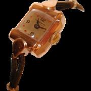 SALE 14 Kt Rose Gold Hydepark Ladies Vintage Wristwatch