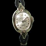14 KT White Gold Wittnauer Ladies Vintage Wristwatch