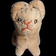 SOLD Tiny Old  Velvet Cat For Doll c1920