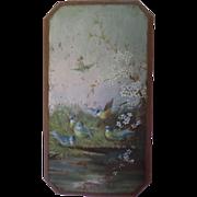 SOLD Blue Tit Bird Family Oil On Panel c1915