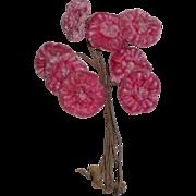 Pink Velvet Milliners Flowers c1915
