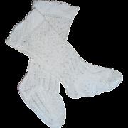Antique Fancy Socks For Wax Doll c1880