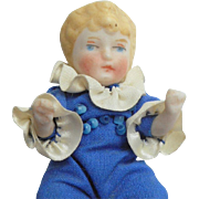 Sweet All Bisque German Doll c1910