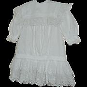 Pretty Edwardian Drop Waist Dress c1915