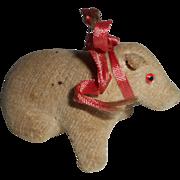 Unusual Velvet Pig Pincushion c1915