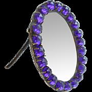 SOLD Small Purple Stone Set Frame c1890