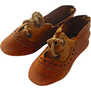 SOLD Size 1 Leather Shoes For German Doll c1915