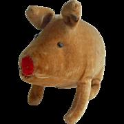 Small Steiff Velvet Pig c1912
