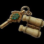 SOLD Miniature Watch Key & Binoculars c1890